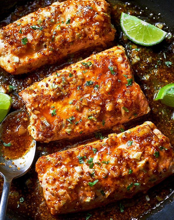 spicy honey garlic salmon recipe