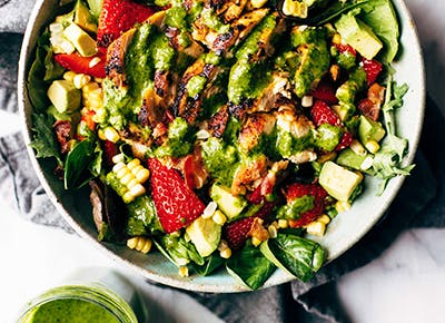 summer chipotle cobb salad with cilantro vinaigrette recipe 290