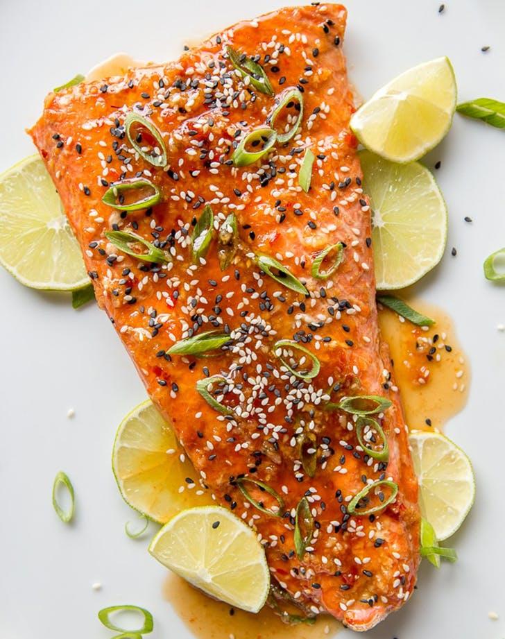sweet chili garlic salmon recipe