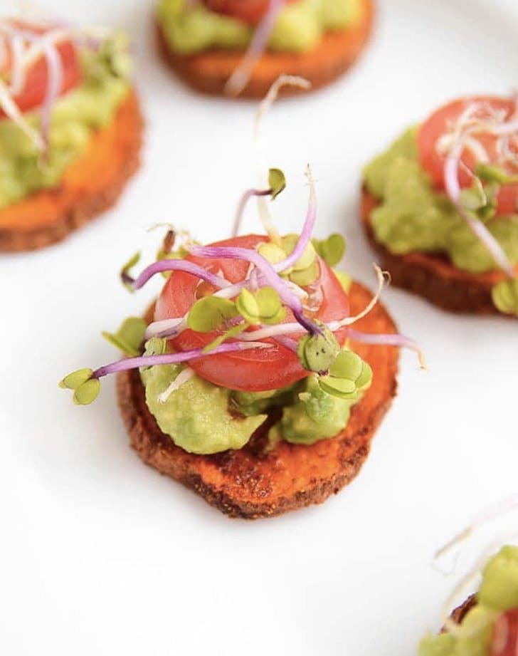 sweet potato avocado bites recipe