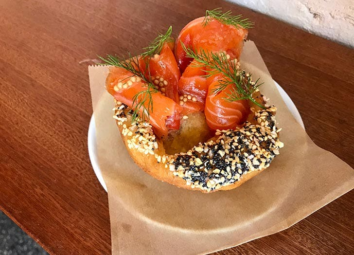 the eddy gin cured salmon everything toast