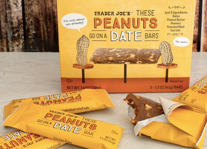trader joes these peanuts go on a date bars