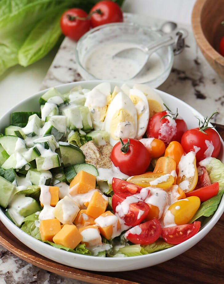 vegetarian keto cobb salad recipe