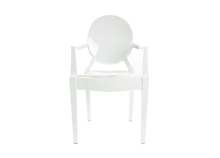 white ghost chair