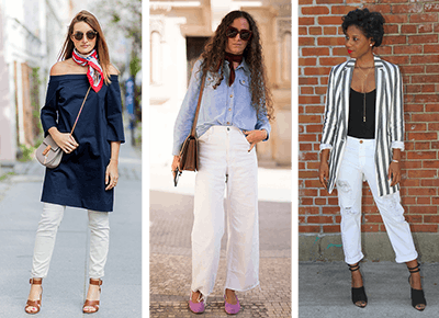 19f4dcd8e30 30 White Jean Outfits to Wear This Summer - PureWow