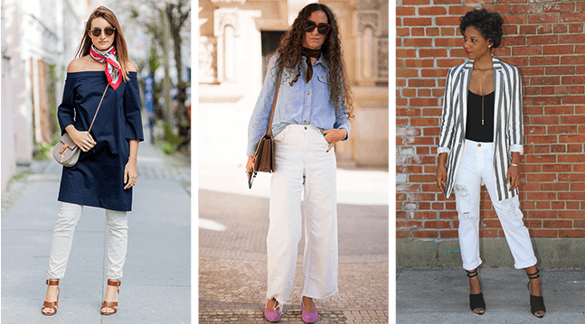 46ae567ee0 30 White Jean Outfits to Wear This Summer - PureWow