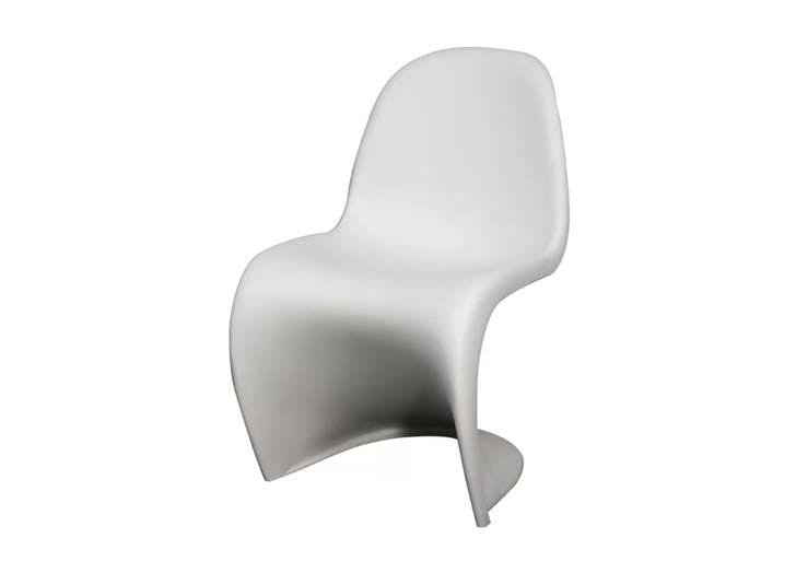 white slither chair