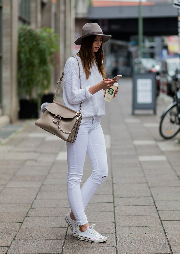 30 White Jean Outfits To Wear This Summer Purewow