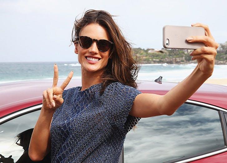 woman sunglasses car selfie list