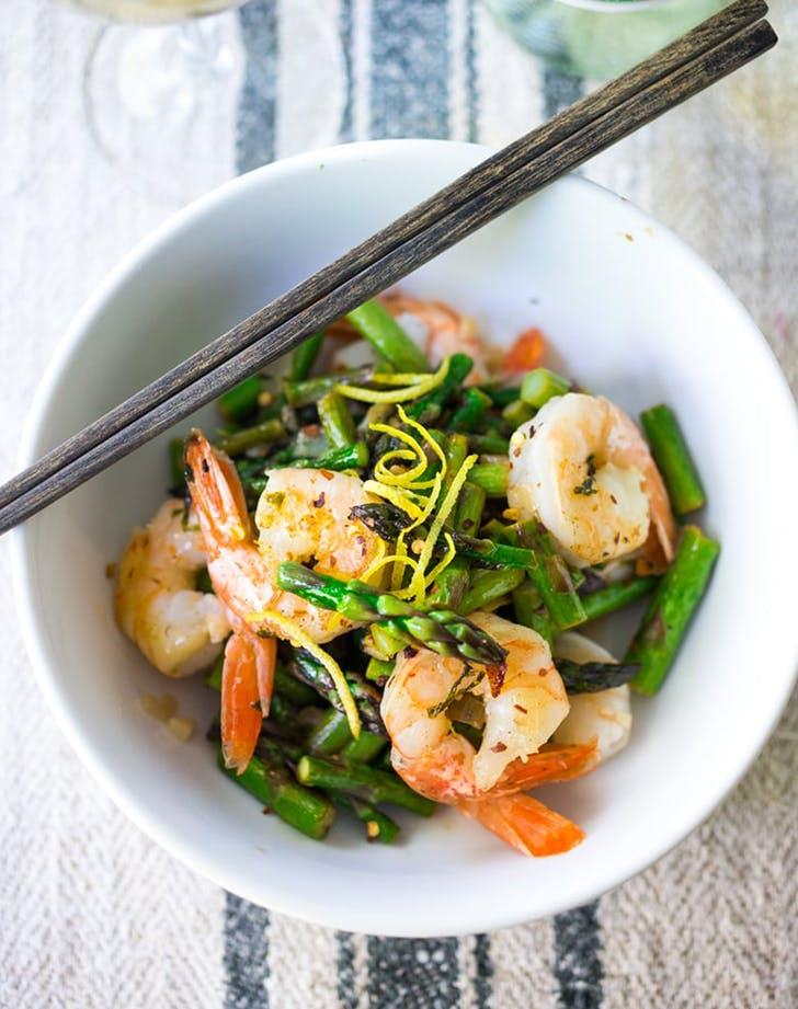 15 minute lemon basil shrimp asparagus recipe