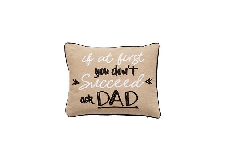 Ask Dad Throw Pillow