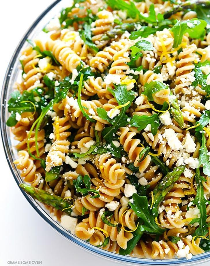 Asparagus Pasta Salad 4th of july side dish