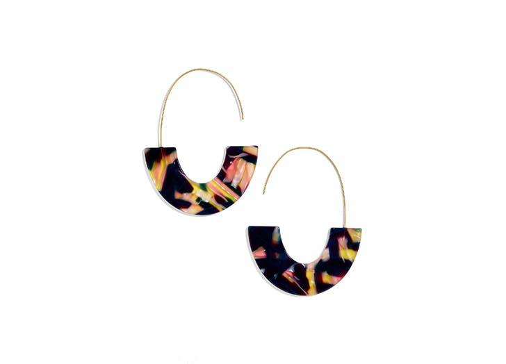Bauble bar acrylic hoop earrings