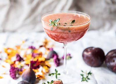 Fig Honey Thyme Prosecco Smash recipe 290