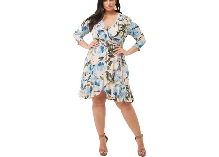 Forever21 floral plus mini dress