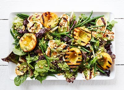 Grilled Peach Salad 400