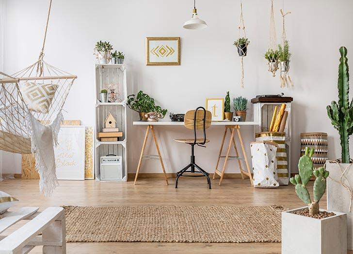 Home detox healthy living room