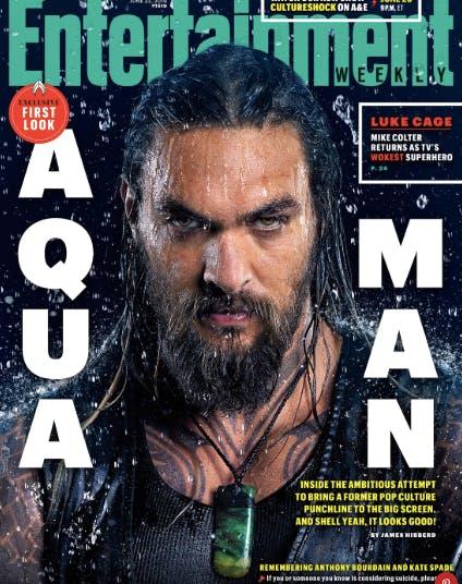 Jason Momoa ET Aquaman cover