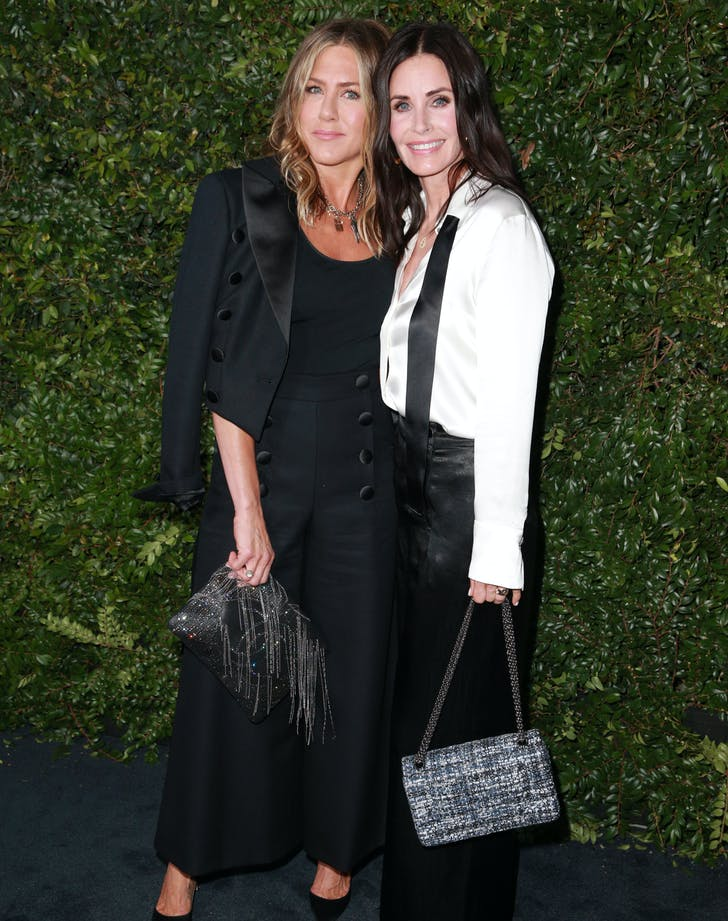 Jennifer Aniston and Courteney Cox at Chanel benefit