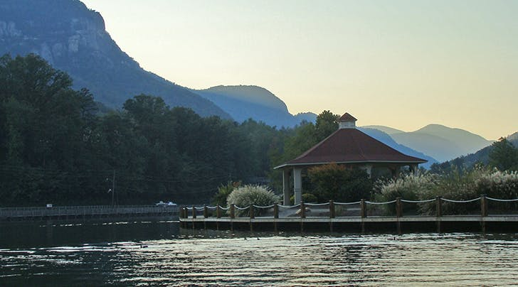 Lake Lure Beach in north carolina