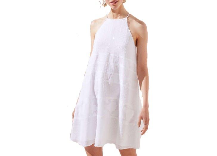 Loft tiered eyelet dress1
