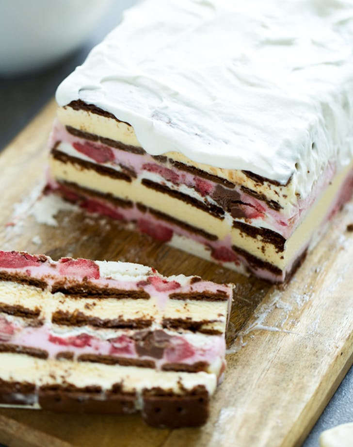 Neapolitan Ice Cream Sandwich Cake recipe