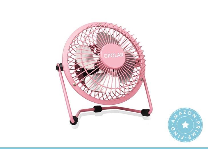 Opolar desk fan pink hero