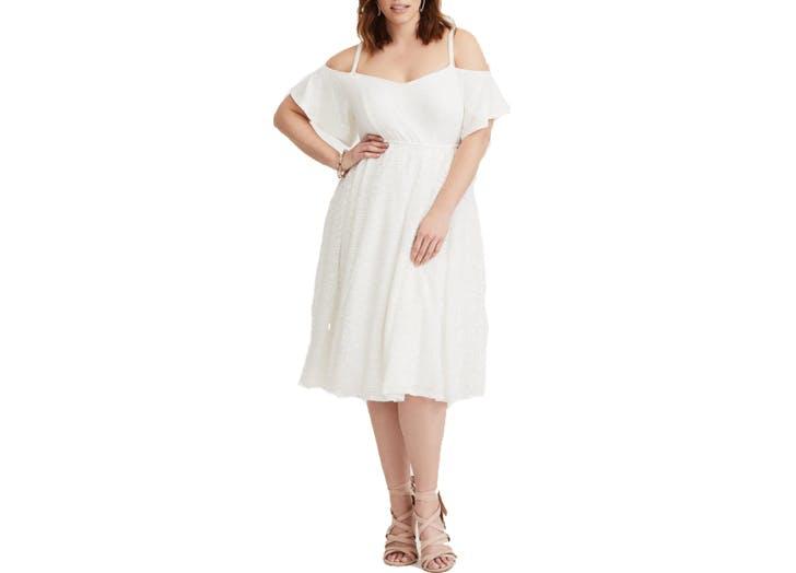 Torrid White empire dress