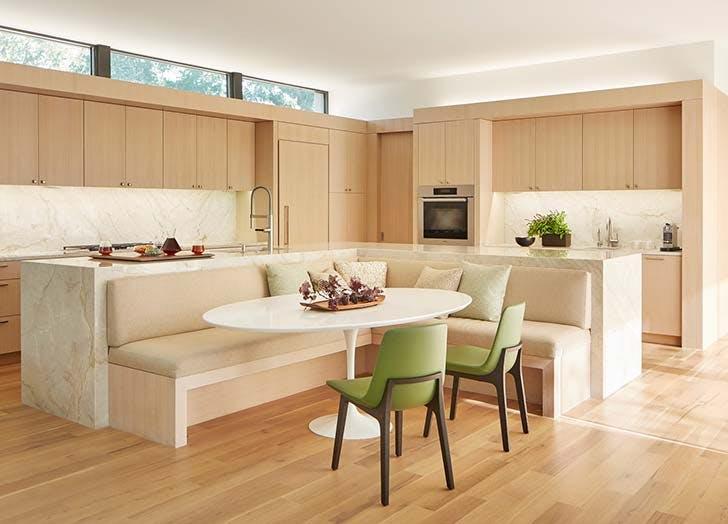 banquette kitchen island