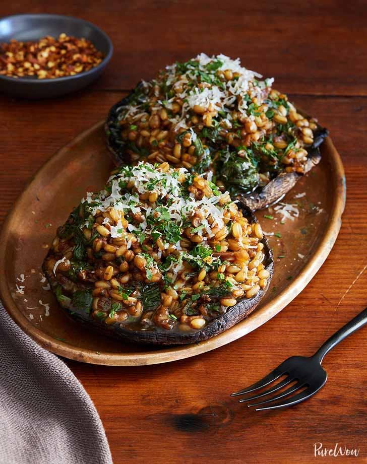 barley risotto in mushroom bowls 9211