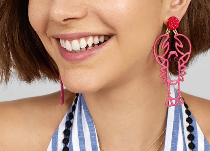 baublebar lobster earrings