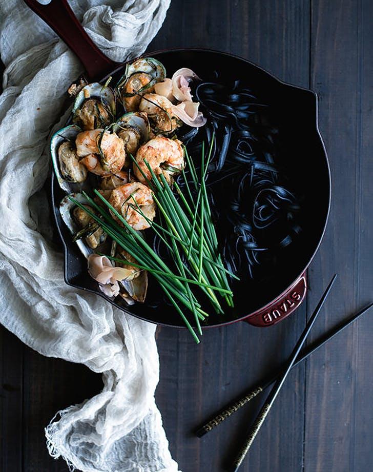 black ink ginger pasta recipe
