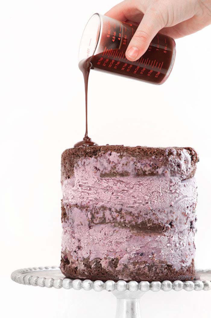 Blackberry Blackout Ice Cream Cake Recipe