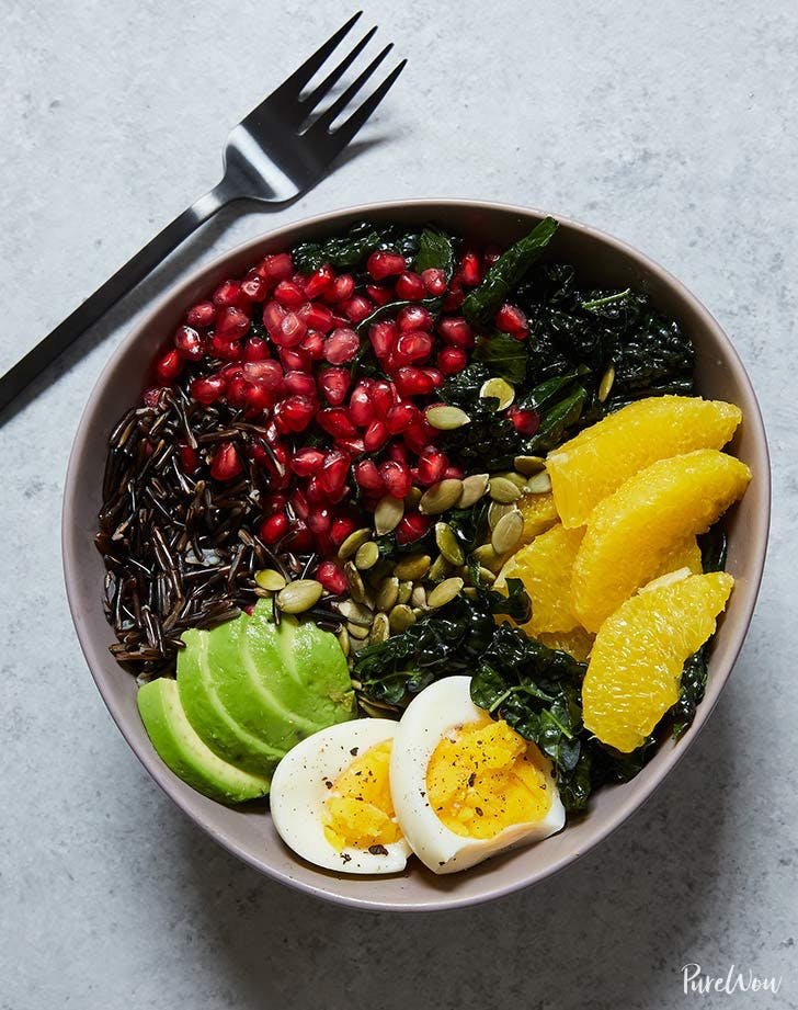 buddha bowl with kale and wild rice recipe