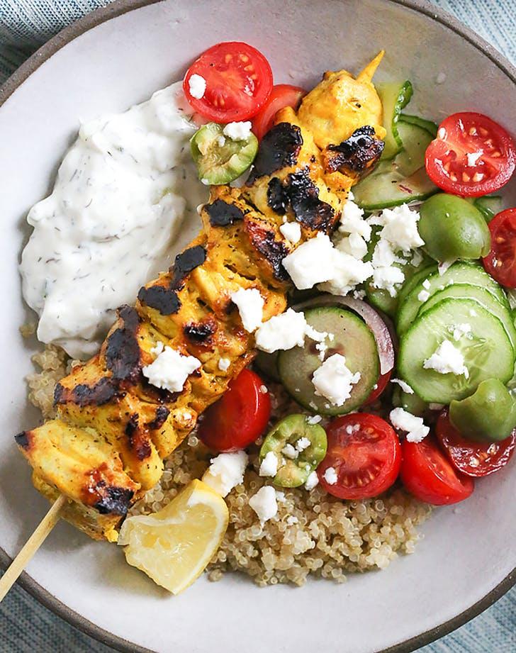 chicken tzatziki bowls recipe