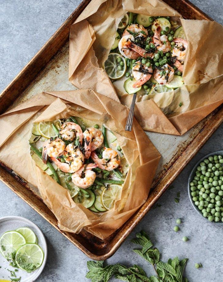 coconut lime shrimp packets summer veggies recipes