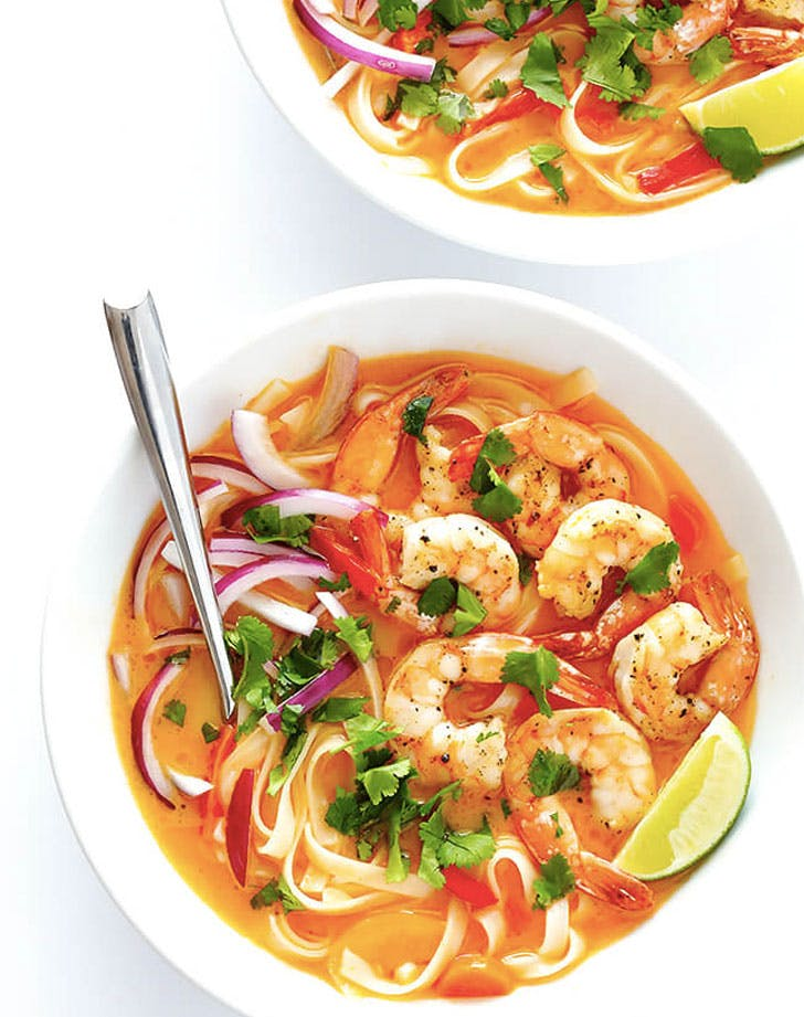 comforting shrimp curry noodle bowl recipe