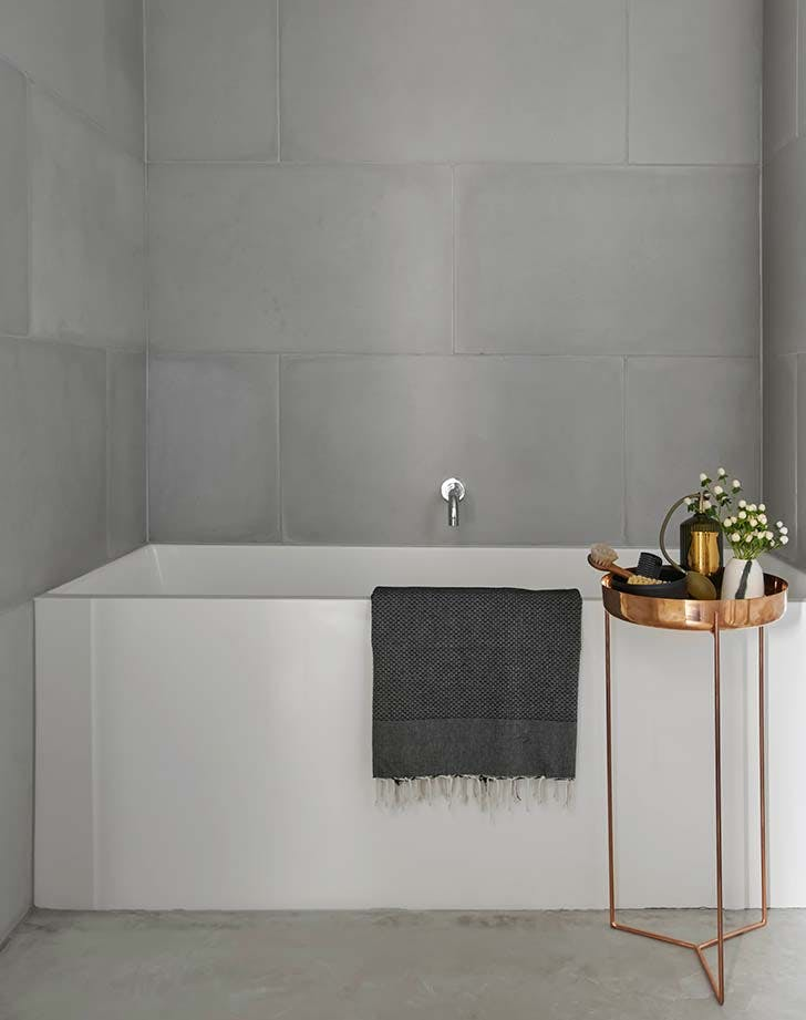 concrete bathroom tiles