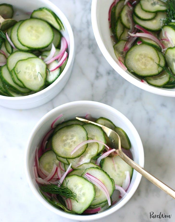 cucumber salad recipe purewow