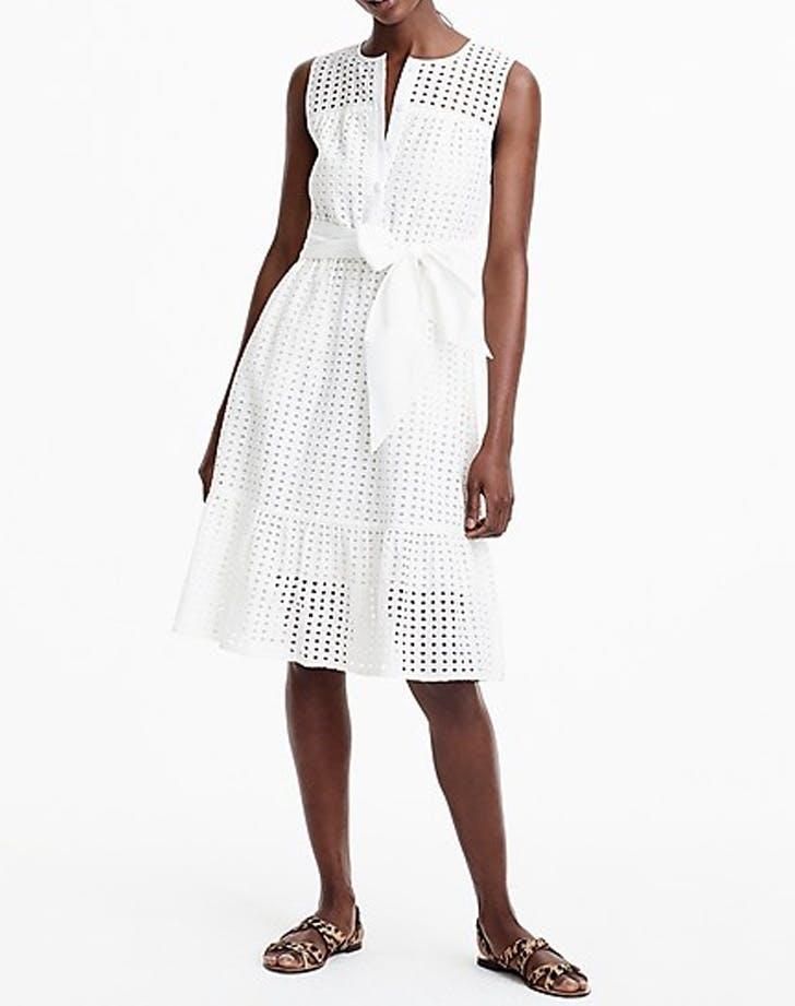 eyelet white dress
