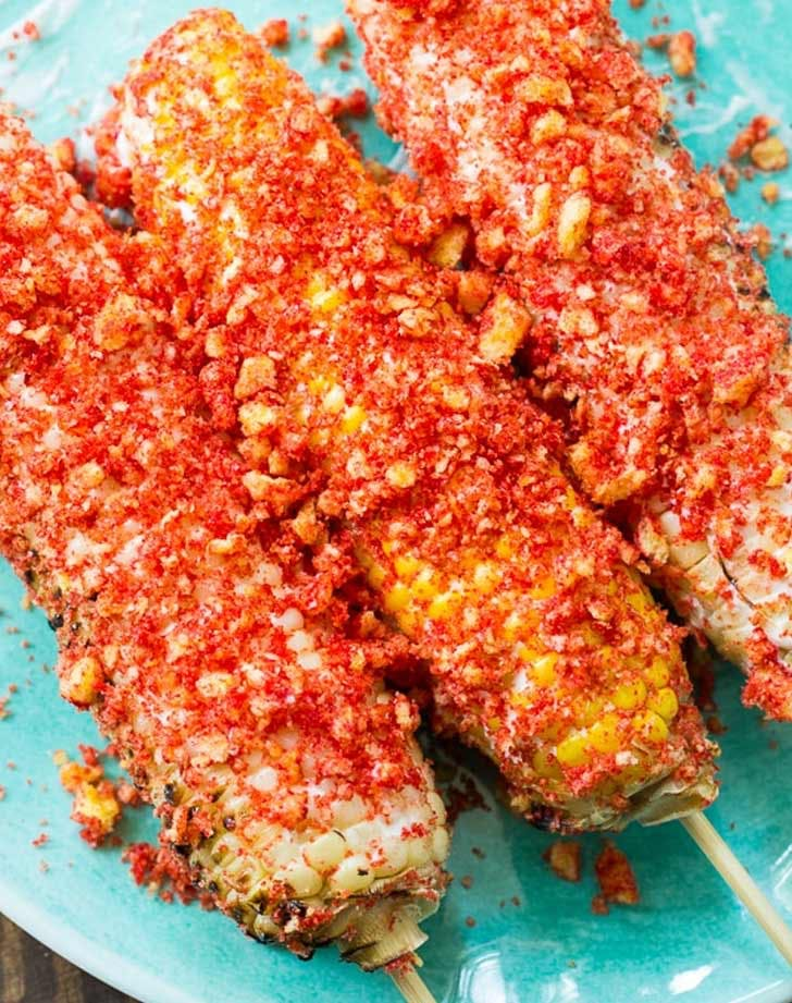 flaming hot cheetos corn on the cob