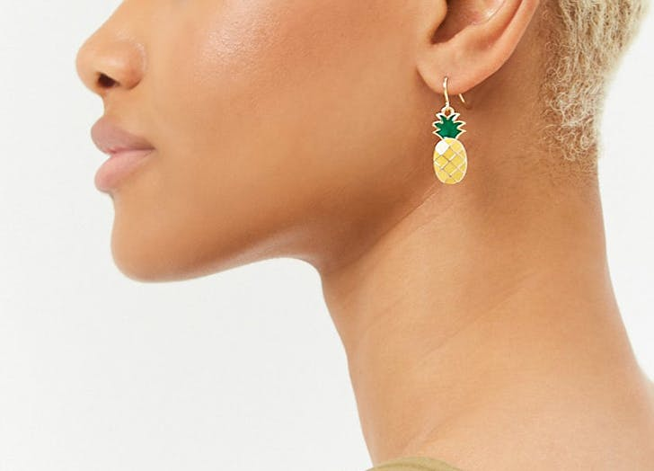 forever 21 pineapple earrings