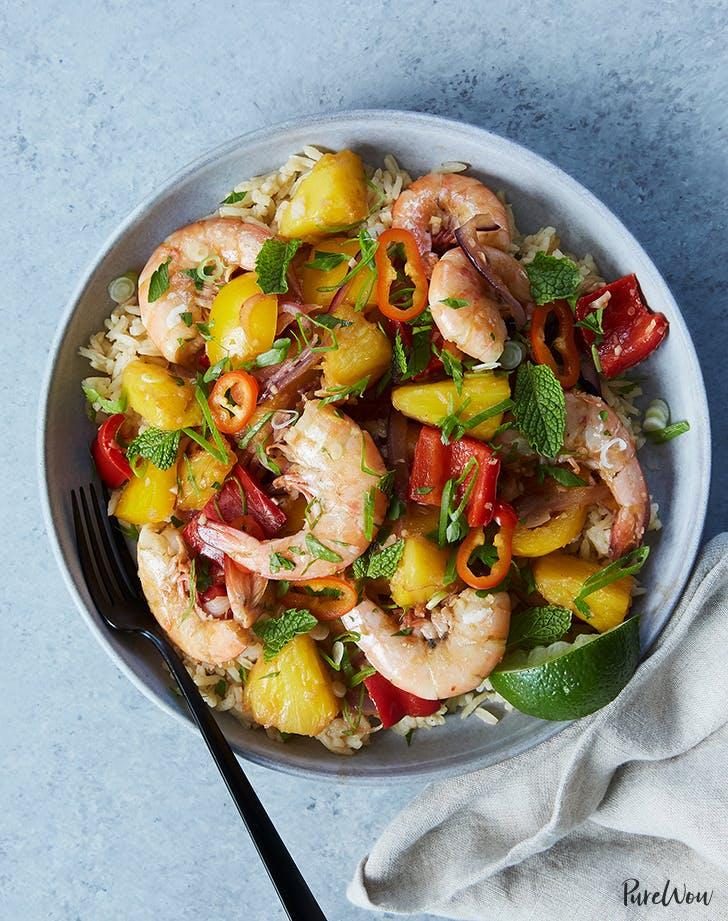 ginger pinneapple shrimp stirfry recipe
