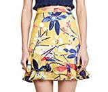 graphic floral skirt by saloni