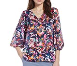 graphic floral top from halogen