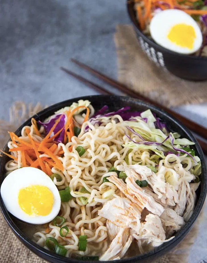 healthy chicken ramen bowl recipe