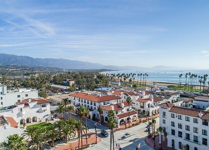 hotel california aerial view hotels sky beach