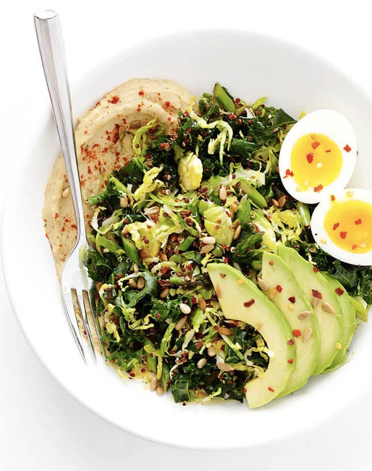 hummus and veggie breakfast bowls recipe