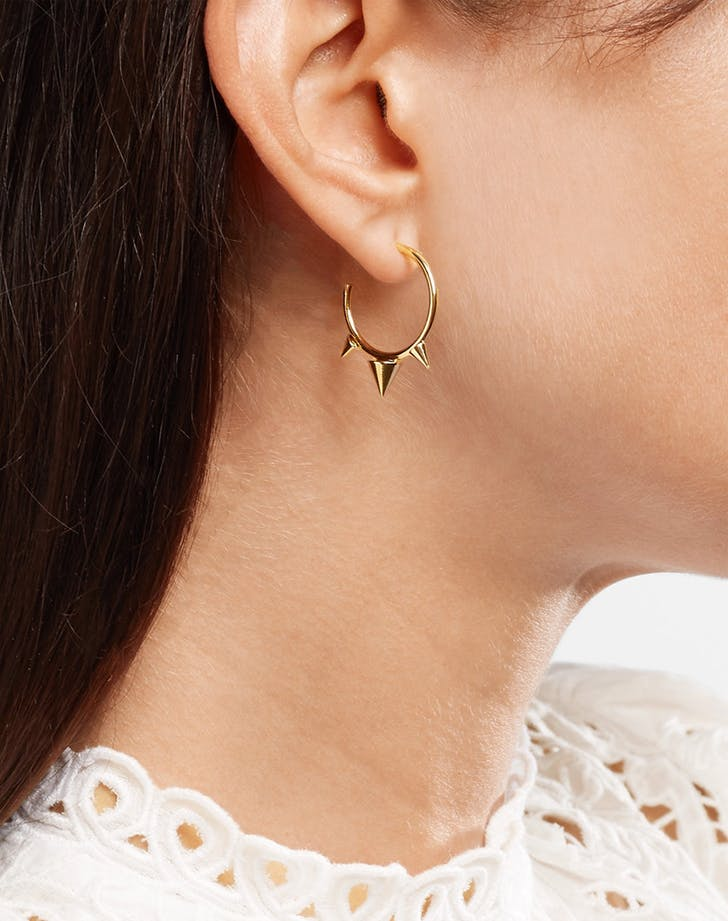 isabel marant spiked hoop earrings