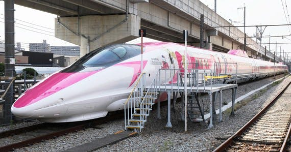 japan unveils new hello kitty bullet train